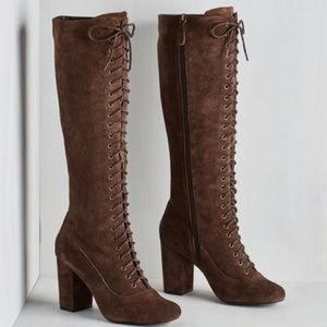 Brand new lace up Victorian ModCloth boots
